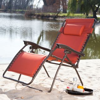 Coral Coast Extra Wide Padded Zero Gravity Lounge Chair   Outdoor Chaise Lounges