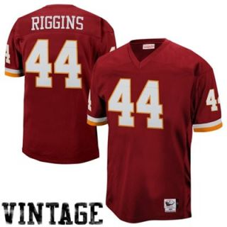 Mitchell & Ness John Riggins #44 Washington Redskins Authentic Throwback Jersey   Burgundy