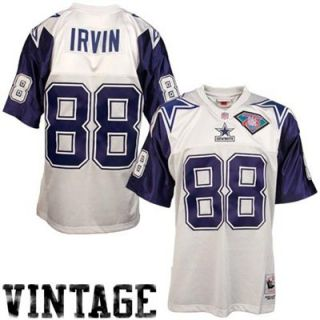 Mitchell & Ness Dallas Cowboys #88 Michael Irvin White Throwback Football Jersey
