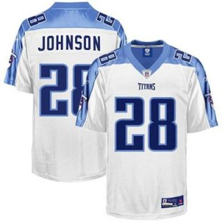 Reebok NFL Equipment Tennessee Titans #28 Chris Johnson Youth White Replica Football Jersey