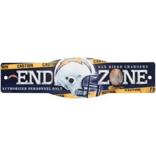 San Diego Chargers 4.5 x 17 Street Zone Sign