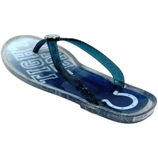 Indianapolis Colts Ladies Slogan Jelly Flip Flops   Royal Blue
