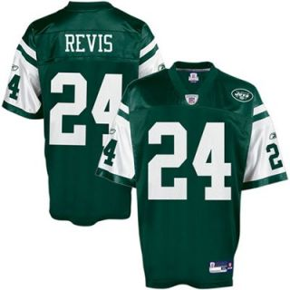 Reebok New York Jets #24 Darrelle Revis Green Replica Football Jersey