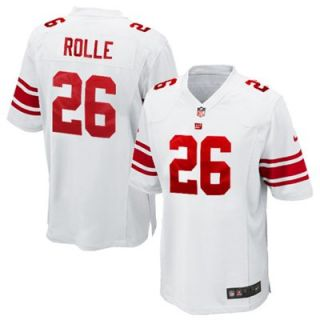 Nike Antrel Rolle New York Giants #26 Youth Game Jersey   White