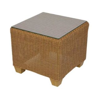 Lloyd Flanders Napa All Weather Wicker Cube End Table   Patio Tables