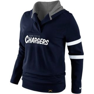 Nike San Diego Chargers Womens Play Action Hooded Top   Navy Blue