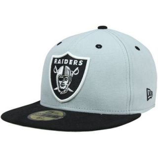 New Era Oakland Raiders Two Tone 59FIFTY Fitted Hat   Silver/Black