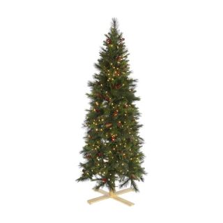 Slim Devonshire Mixed Pre Lit Christmas Tree   Clear Lights   Christmas Trees