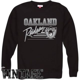 Mitchell & Ness Oakland Raiders NFL Training Room Crew Sweatshirt   Black