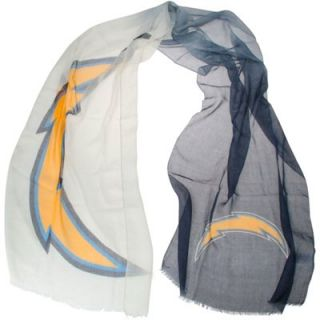 San Diego Chargers Ladies Gradient Scarf   White/Navy Blue