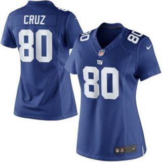 Nike Victor Cruz New York Giants Womens Limited Jersey   Royal Blue
