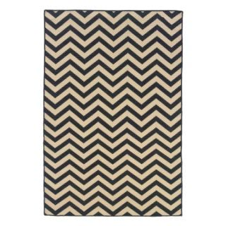 Linon Salonika Chevron Area Rug   5 x 8 ft.   Area Rugs