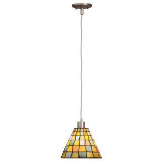 Kichler 65334 Casita Tiffany 1 Light Mini Pendant   9W in. Antique Pewter   Tiffany Ceiling Lighting