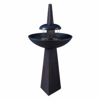 Kenroy Equinox Garden Indoor/Outdoor Water Fountain   Bird Baths