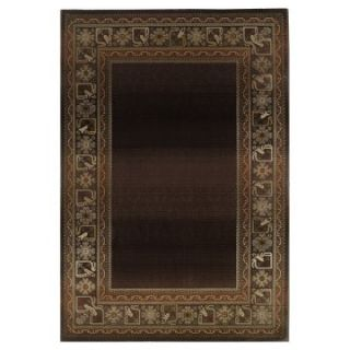 Oriental Weavers Generations 3436B Border Area Rug   Brown   Area Rugs