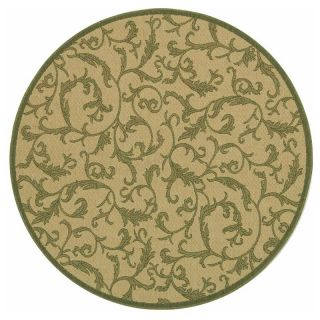 Safavieh Courtyard 2653 Indoor/Outdoor Area Rug   Green & Brown   Area Rugs