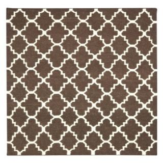 Safavieh Dhurri DHU554C 6SQ Area Rug   Brown / Ivory   Area Rugs