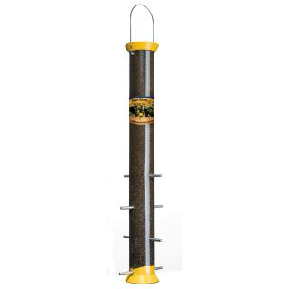 Droll Yankee 23 in. Finch Flocker Yellow Nyjer Tube Feeder 8 Ports   Bird Feeders