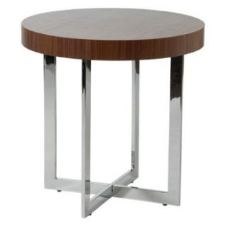 Euro Style Oliver End Table   Walnut   End Tables