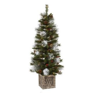 Vickerman 4 ft. Potted Snow Tip Pre Lit Christmas Tree   Christmas Trees