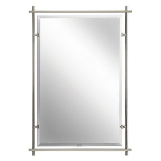 Eileen Brushed Nickel Wall Mirror   26.5W x 39H in.   Wall Mirrors