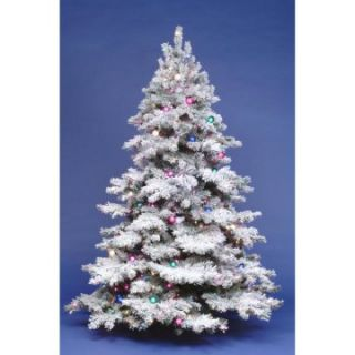 Clear Light 10 ft. Flocked Alaskan Pre lit Christmas Tree   Christmas Trees