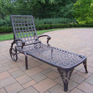 Oakland Living Elite Cast Aluminum Chaise Lounge   Outdoor Chaise Lounges