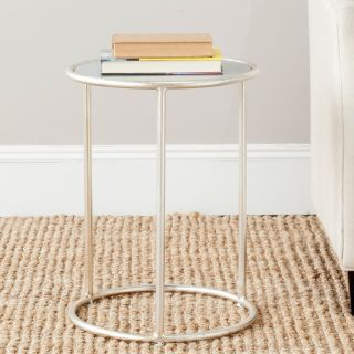 Safavieh Shay Accent Table   Silver/Grey Glass Top   End Tables