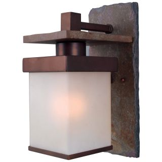 Kenroy Home Boulder Outdoor Wall Lantern   11H in. Natural Slate with Copper   Outdoor Wall Lights