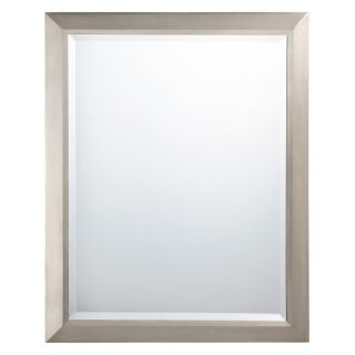 Rectangular Brushed Nickel Wall Mirror   24W x 30H in.   Wall Mirrors