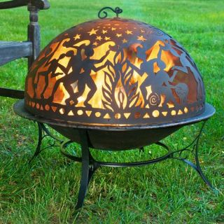 Good Directions 30 in. Fire Bowl with Full Moon Party Fire Dome   Fire Pits