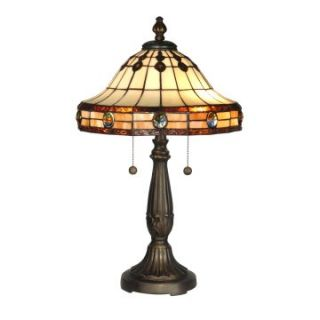 Dale Tiffany Jeweled Mission Table Lamp   Tiffany Table Lamps