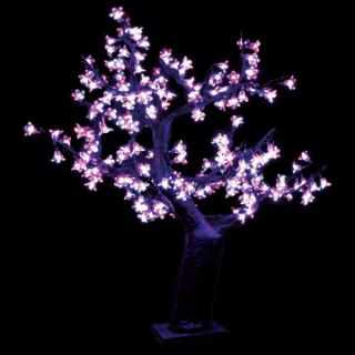 2.5 ft. Pre lit LED Cherry Blossom Tree   Pink   Christmas Trees