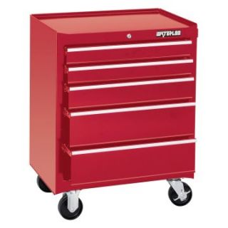 Waterloo 26 in. Red 5 Drawer Cabinet   Tool Chests & Cabinets