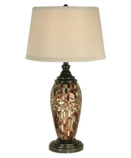 Dale Tiffany Mosaic Oval Art Glass Table Lamp   Table Lamps