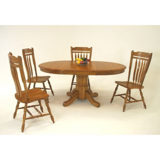 Classic Solid Wood 48 Inch Round Pedestal Dining Table   Dining Tables