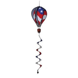 Premier Designs 16 in. Patriotic Hot Air Balloon with Tail Wind Spinner   Wind Spinners