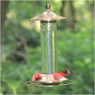 Brushed Metal Hummingbird Feeder   Bird Feeders