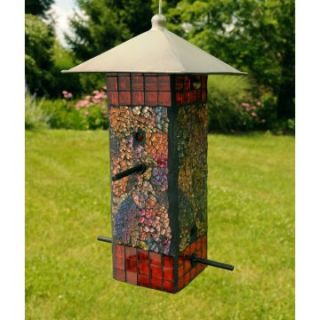 Sequin Bird Feeder Square   Orange/Yellow   Bird Feeders