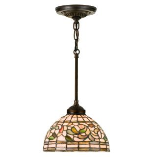 Meyda Turning Leaf Tiffany Mini Pendant Light   8W in. Bronze   Tiffany Ceiling Lighting