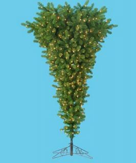 Kurt Adler 4.5 ft. Upside Down Pre Lit Christmas Tree   Christmas Trees