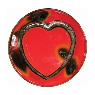 Metal Ruby Love Sign Wall Art   Wall Sculptures and Panels