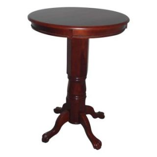 Florence Round Pedestal Pub Table Dark Cherry   Pub Tables