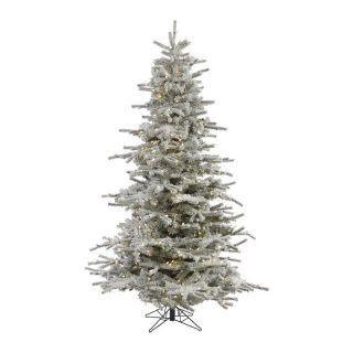 Sierra Flocked Pre Lit LED Christmas Tree   Christmas Trees