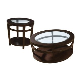 Hammary Urbana 2 Piece Round Coffee Table Set   Coffee Table Sets