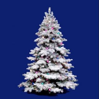Vickerman Flocked Alaskan Multi Pre lit Christmas Tree   Christmas Trees