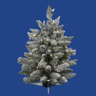 Vickerman 2 ft. Flocked Sugar Pine Dura Lit Christmas Tree   Christmas Trees