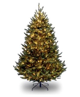 10 ft. Natural Fraser Fir Medium Clear Pre Lit Christmas Tree   Artificial Christmas Trees
