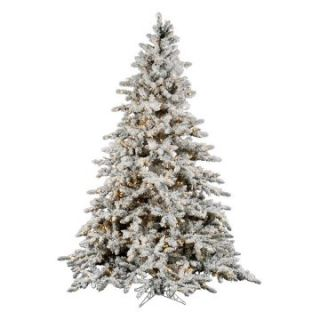 Vickerman 7.5 ft. Flocked Slim Utica Fir Multi LED Christmas Tree   Christmas Trees