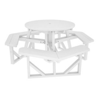 POLYWOOD® Park 36 in. Round Recycled Plastic Picnic Table   Picnic Tables